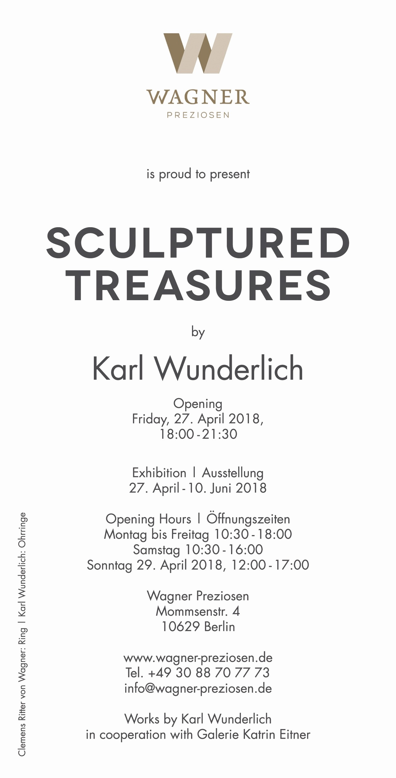Karl Wunderlich SCULPTURED TREASURES bei Wagner Preziosen